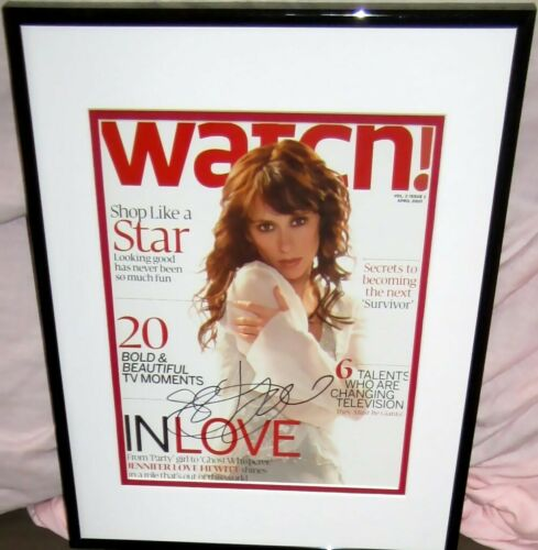 Jennifer Love Hewitt autographed signed 2007 Watch magazine cover matted framed