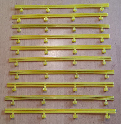 MICRO SCALEXTRIC spares / accessories - BARRIERS - G108 / L7559 - Yellow x 10