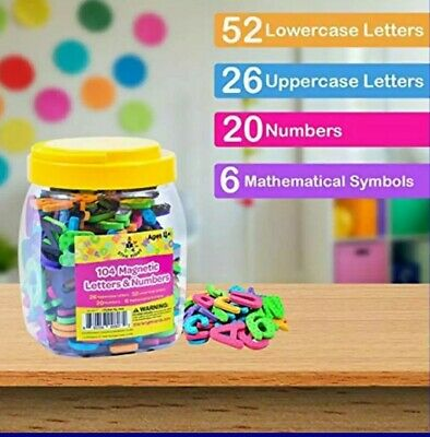 Magnetic Letters & Numbers 104 Educational Alphabet Refrigerator Magnets