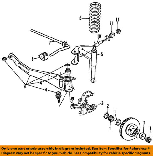 details about ford oem 84 97 ranger front suspension insulator e7tz3b203a 4wd ford ranger front suspension diagram vehicle check front end assembly
