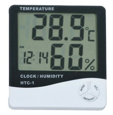 Humidity Thermometer - Thermometer Digital LCD Hygrometer Temperature Humidity Meter Alarm Clock