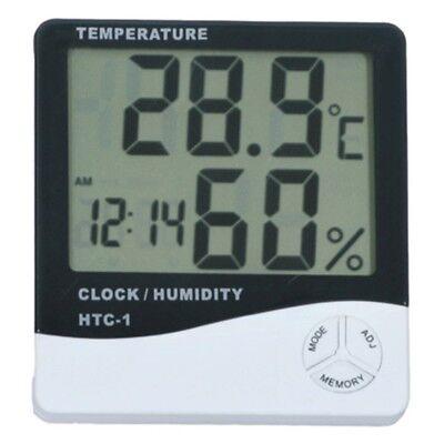 Thermometer Digital LCD Hygrometer Temperature Humidity Meter Alarm Clock