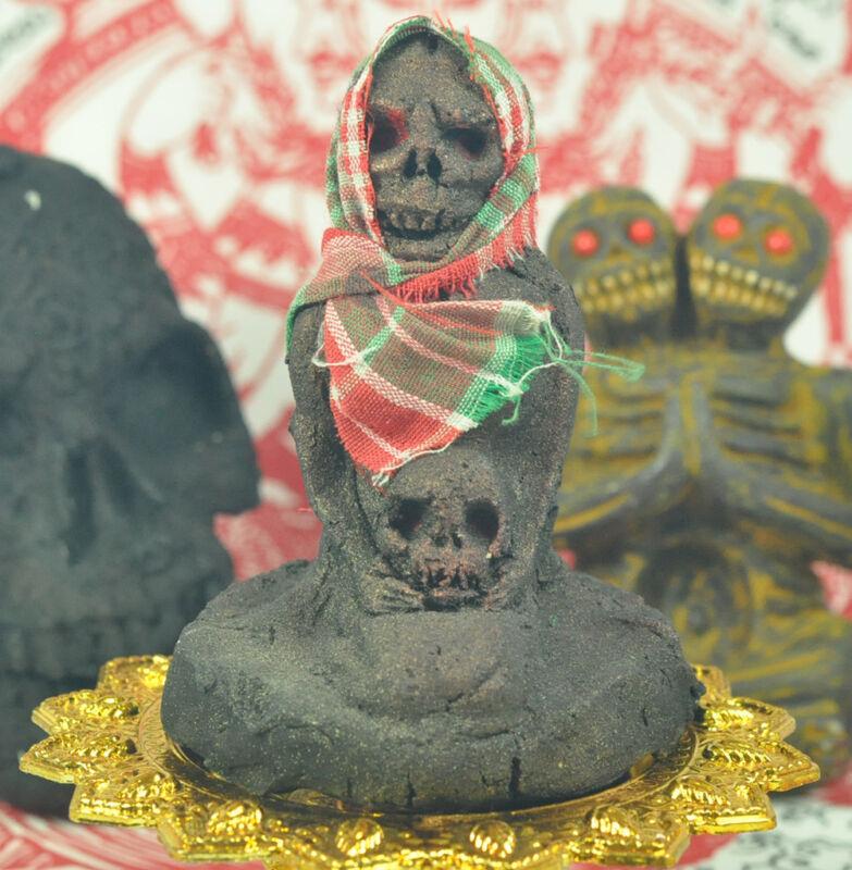 Magic PRAI Dead Ghost Occult thai Khmer magic Rich wealth Gambling buddha Amulet