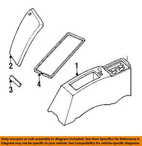 jeep chrysler oem 94 95 wrangler center console cover 4636721. Black Bedroom Furniture Sets. Home Design Ideas