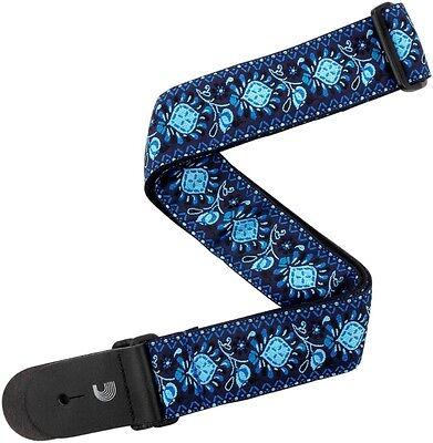 "D'Addario Planet Waves 2"" Woven Guitar Strap, Monterey 2 Blue"