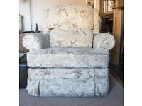 For sale.Heavy duty mechanical reclining arm chair.