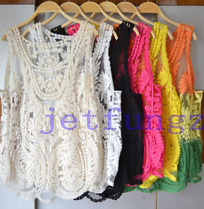 Lace-Floral-Sleeveless-Crochet-Knit-Vintage-Women-Vest-Tank-Top-Shirt-Sexy-Hot