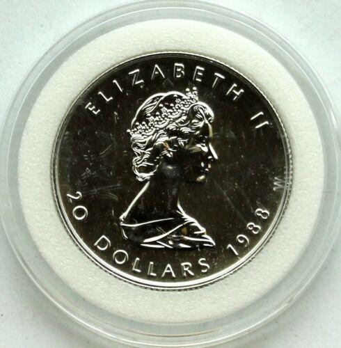 1988 Platinum Maple Elizabeth II $20 9995 1/2 oz coin