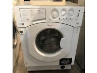 LIKE NEW HOTPOINT BHWD129 INTEGRATOR WASHER & DRYER 3 MONTH WARRANTY, FREE INSTALLATION