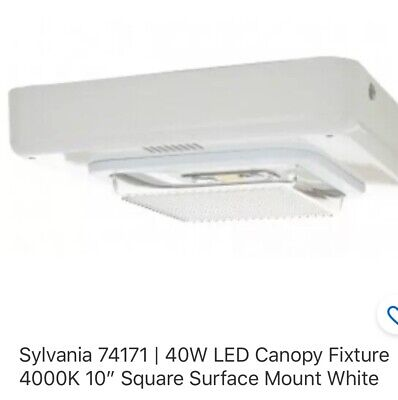 SYLVANIA LEDVANCE CANOPY LED SURFACE GARAGE LIGHT FIXTURE 40 WATTS 10 IN SQUARE