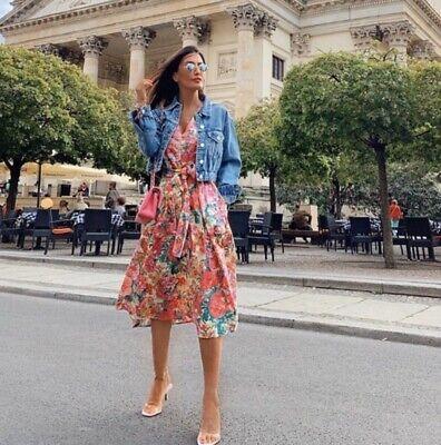 Zara Women Floral Midi Dress Ref 7727/042 Sz XS NWT