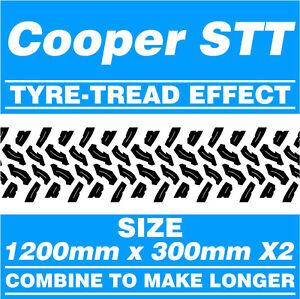Cooper-STT-Tyre-Tread-4x4-Off-Road-Cut-Vinyl-Graphic-Stickers-1200mm-x-300mm-x2