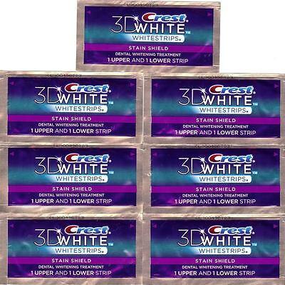 CREST 3D White STAIN SHIELD Whitestrips Strips Teeth Dental Whitening Stripes on Rummage