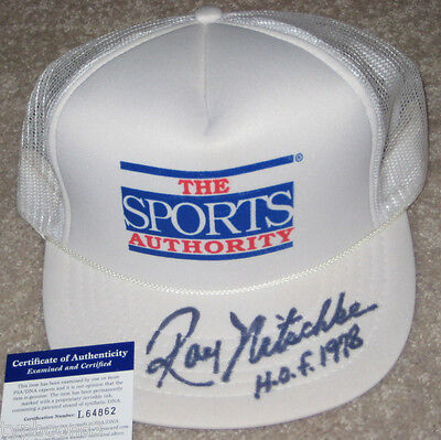 RAY NITSCHKE (Green Bay PACKERS) signed hat w/ PSA COA