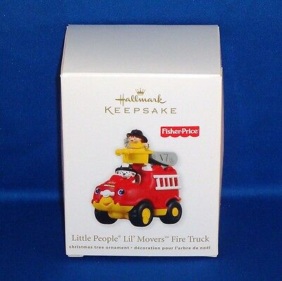 Hallmark - 2011 - Fisher Price Little People Lil' Movers Fire Truck Ornament