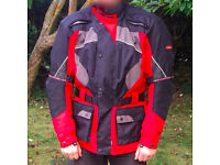 Motorcycle Jacket Large Storm Guard Lewis with Armour Prorection Bike Jacket