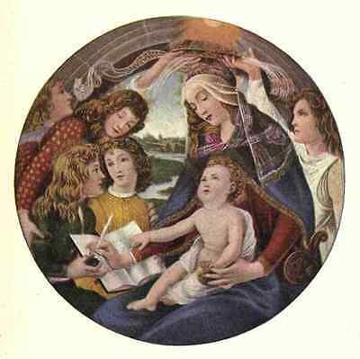 A4 Photo Botticelli Sandro 1445 1510 Famous Madonnas 1907 Madonna Print Poster