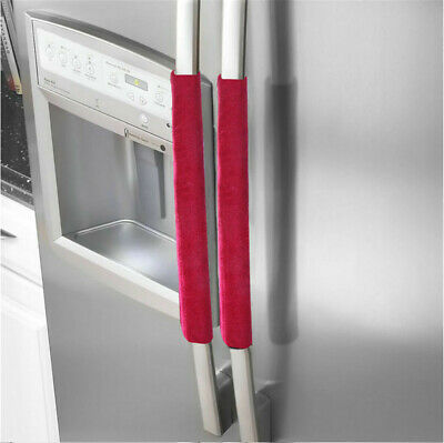 a pair refrigerator handle cover kitchen appliance