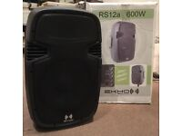 "Ekho RS12A 12"" Active Powered Speaker PA System Disco Party Box DJ Sound"