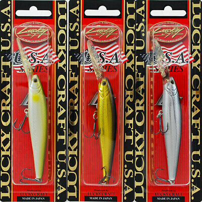 "Lucky Craft LV-300N Crankbait Red//Yellow Stripe 2 3//4/""L"
