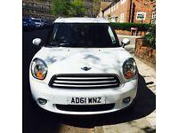 Price reduced for quick sale, Mini Countryman white 2011/61 £6900