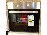 BRAND NEW BUILT IN ELECTRIC OVEN IN SILVER STAINLESS STEEL ABSOLUTE BARGAIN ...!!