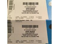 £40.00 for 2 x Jake Bugg Tickets Unreserved Standing