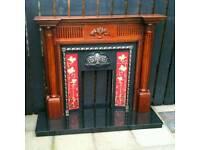 Stunning antique fireplace