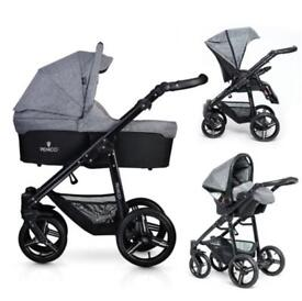 Venicci Mini Travel System, Pushchair, Carrycot & Car Seat
