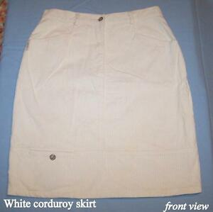 SAMPA skirt, 100% cotton, corduroy, cream, soft 42,active casual