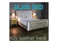 Bliss crushed velvet bed