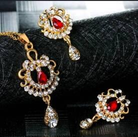 New flower droplet jewelry set