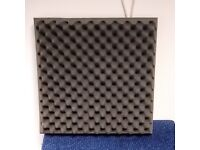 Acoustic foam tiles for sound studio or vocal booth