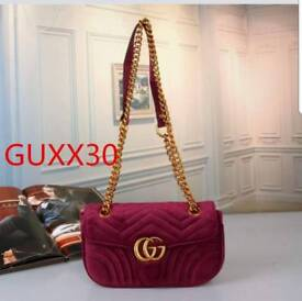 Gucci marmont velvet burgundy bag small stunning brand new with tags £60