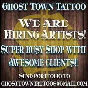 Tattoo Artists Wanted Immediately.