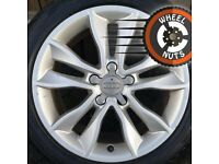 "17"" Genuine Audi A3 alloys Golf Caddy Leon good cond excel tyres."