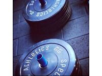 NEW Olympic Bumper Weight Plates 5kg - 25kg Gym Strength Training IN STOCK