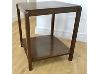 VINTAGE DARK WOOD SIDE TABLE, COFFEE TABLE, ART DECO DETAIL, IDEAL UPCYCLE PROJECT