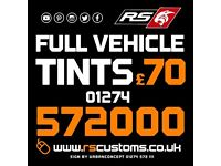 FULL VEHICLE WINDOW TINTS FROM £70