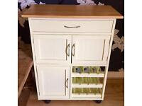 Kitchen Unit with Wine Rack on Casters