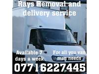 Rays Removal,Man with a van,house move,collection,delivery,clearance,Man witha van for hire