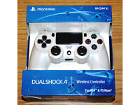 PS4 Dual Shock 4 Controller, White - Brand New