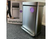 Simplehuman 45 litre Rectangular bin Brand new and sealed. Brushed stainless steel Liner pocket