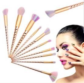 10 Piece Unicorn Make-up Brush Set