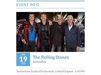 Rolling Stones ticket 19th June London