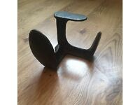 Antique cast iron shoe last 3 way cobblers tool anvil old vintage