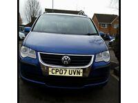 VW touran 2007 blue 7 seater 117k