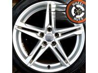 """18"""" Genuine Audi A4 B9 S Line alloys per cond Bridgestone tyres."""