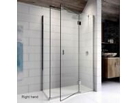 Kudos Pinnacle 8 Hinged Shower Door for corner 1000mm