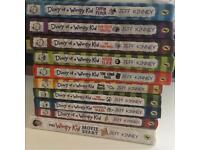 10 DIARY OF A WIMPY KID BOOK COLLECTION